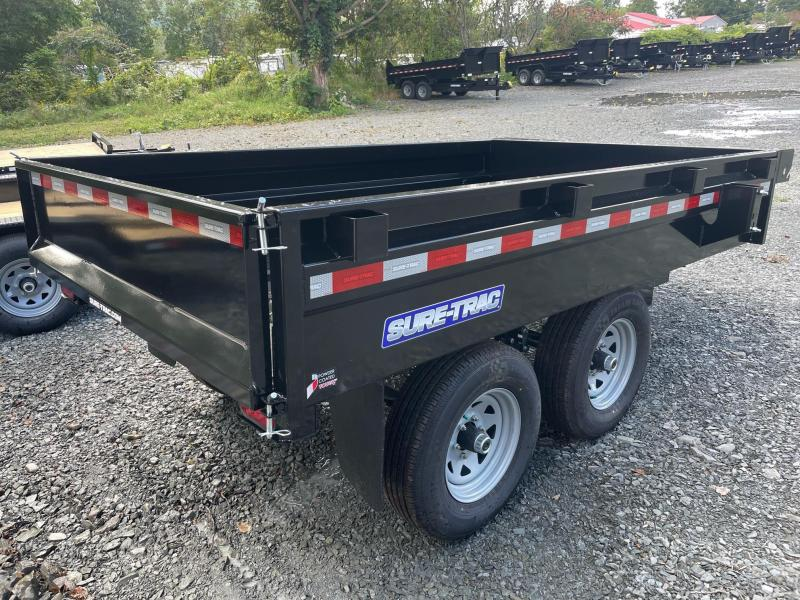 2022 SURE-TRAC 6x10 10k Deckover Dump Trailer - Stake Pockets - Integrated Tarp Mount - Spare Tire Mount - D-Rings - Powder Coat Paint - Made in the USA - ST7210DOD-B-100