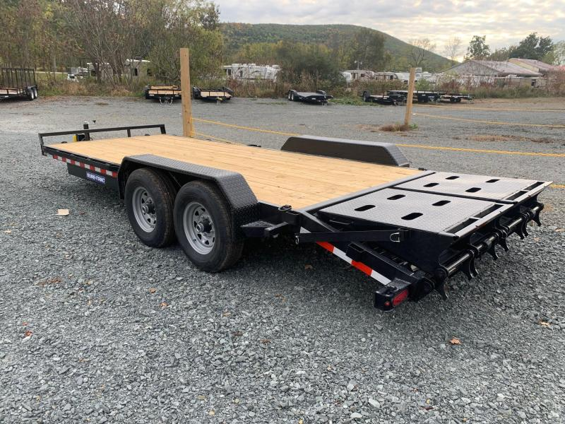 2021 SURE-TRAC 7x17+3 14k Universal Ramp Equipment Trailer - ST82173URET-B-140 - Full Width Ramps