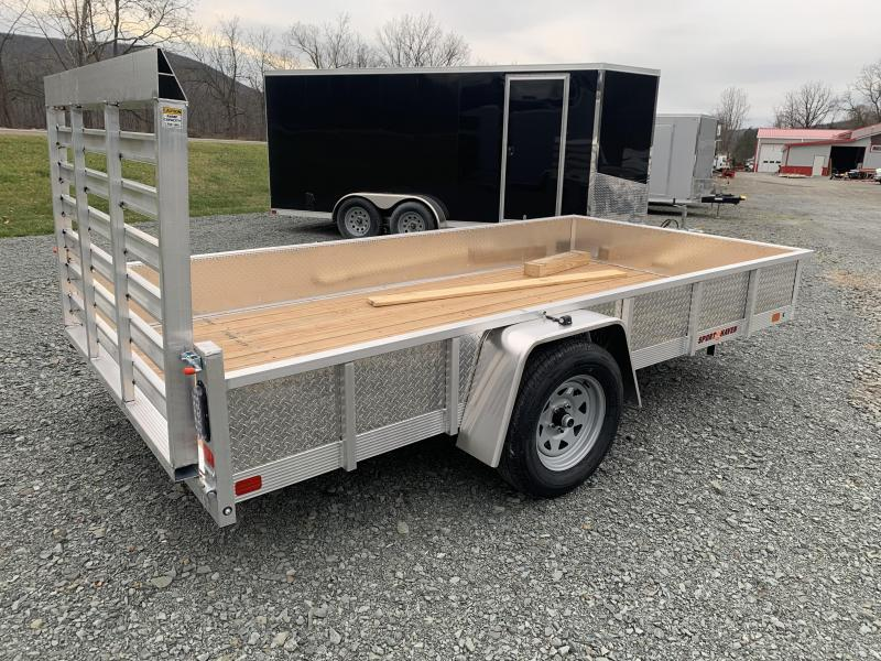 2021 SPORT HAVEN 6x12 Aluminum Utility Trailer - Wood Deck - ATP Sides - AUT612S