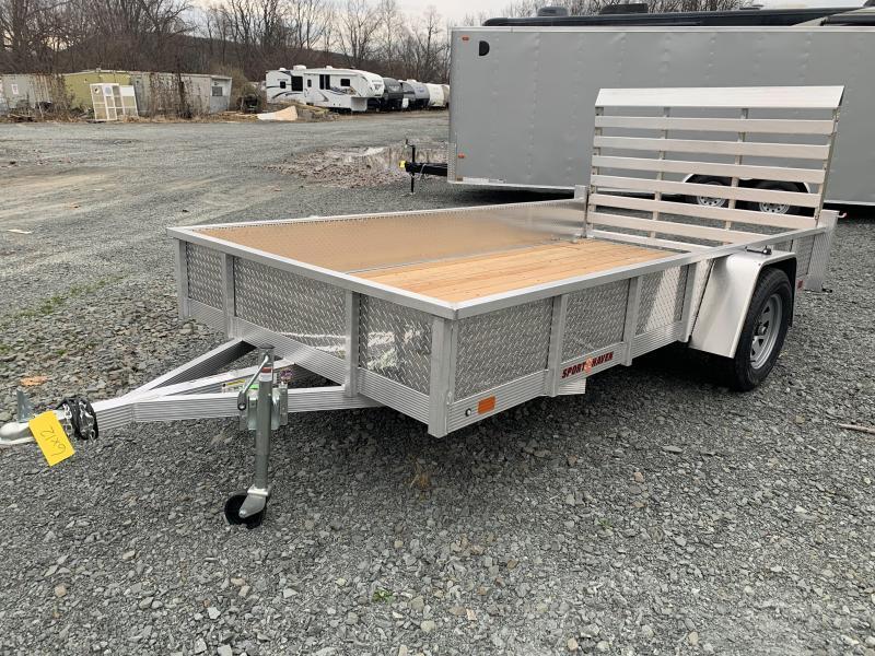 2021 SPORT HAVEN 6x12 Aluminum Utility Trailer - Wood Deck - ATP Sides - AUT612S