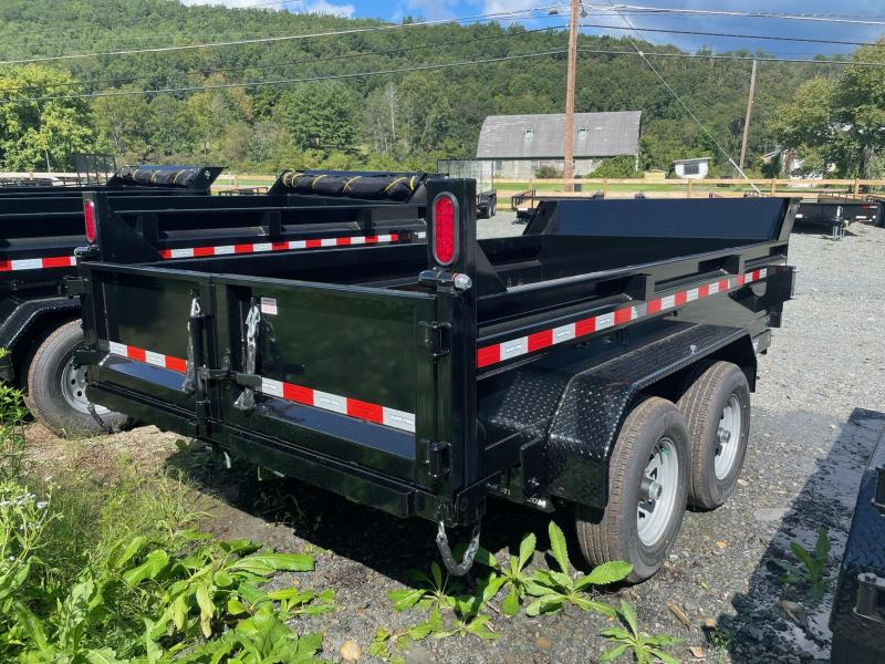 2022 SURE-TRAC 6x12 10k Low Profile Dump Trailer - D-Rings - Ramps - Combo Gate - Integrated Bulkhead with Tarp Mounting - Spare Tire Mount - ST7212D1R-B-100