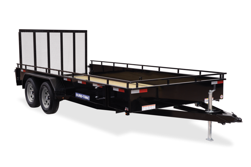 2021 SURE-TRAC 7x16 7k Steel High Side Utility Trailer - ST8216HSAT-B-070