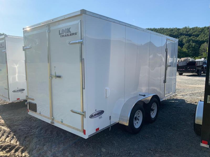 """2022 LOOK Element SE 7x16 7k Cargo / Enclosed Trailer - Barn Door - Contractor Grade - 16"""" OC Floor & Wall Frame - Bar Lock Side Door - Screwless Exterior - EWLC7X16TE2SE"""