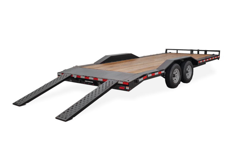 2021 SURE-TRAC 8.5x16+2 10k Full Width Drive Over Fender Equipment Trailer - ST10218FWET-B-100