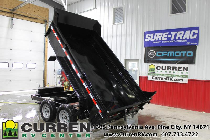 2021 SURE-TRAC 6x10 7k Low Profile Dump Trailer - Ramps - Combo Gate - ST7210D1R-B-070 ***DUE LATE OCTOBER