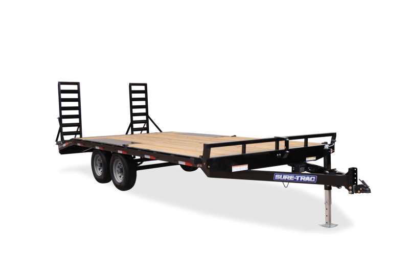 2020 SURE-TRAC 8.5x20 (17+3) 10k Beavertail Deckover Equipment Trailer - ST102173TDO2A-B-100