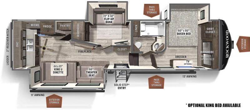 2021 ROCKWOOD ULTRA LITE 2887MB Fifth Wheel Camper ***DUE MID MARCH