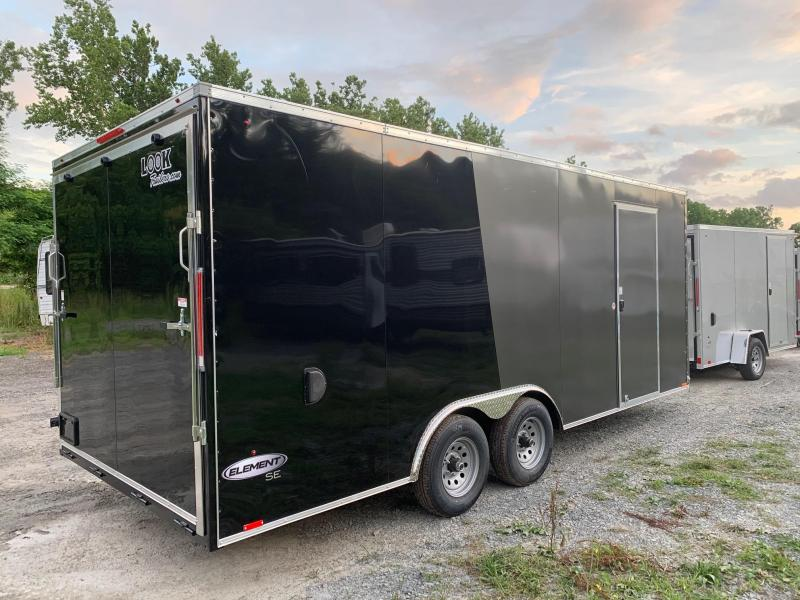 2021 Look Trailers Element SE 8.5x20 10k Enclosed Car / Cargo Trailer - Black & Charcoal - EWLC85X20TE3SE