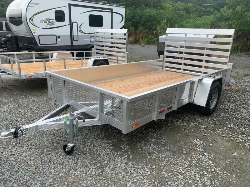 2021 SPORT HAVEN 6x12 Aluminum Utility Trailer with ATP Sides - AUT612S