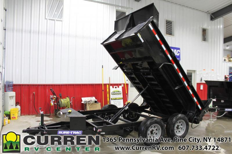 2021 SURE-TRAC 6x10 10k Low Profile Dump Trailer with Ramps - ST7210D1R-B-100