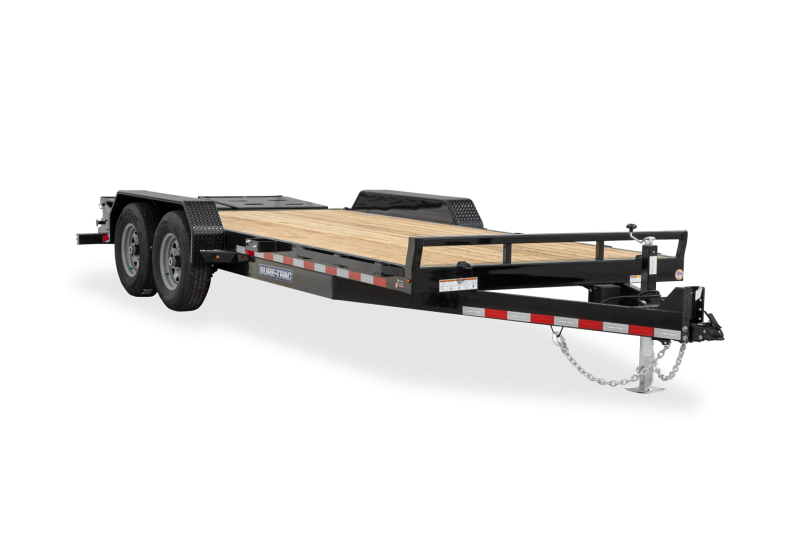 2020 SURE-TRAC 7x20 (17+3) 14k Equipment Trailer with Full Width Ramps - ST82173URET-B-140