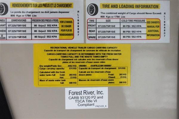 2019 Forest River Inc. ROCKWOOD Signature Ultra Lite 8290BS Fifth Wheel Camper