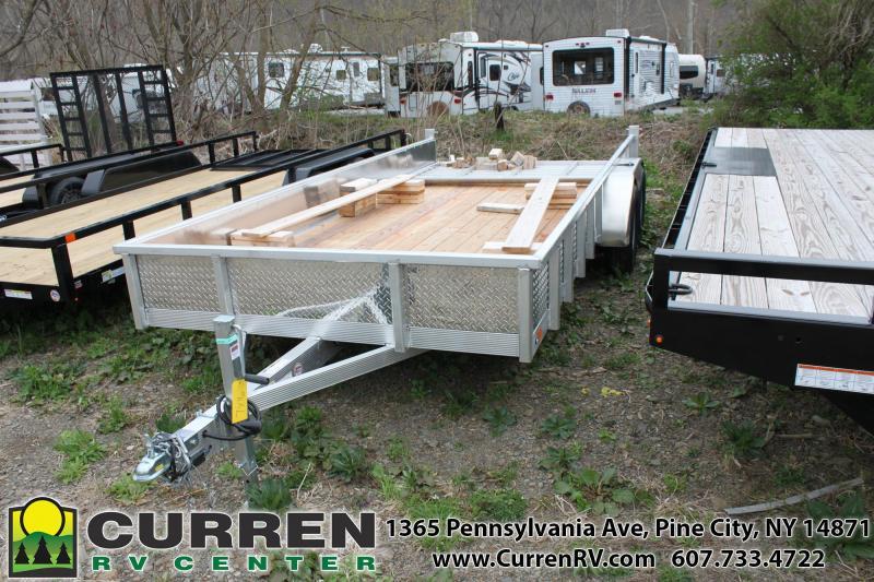 2020 SPORT HAVEN 7x16 7k Aluminum Utility Trailer with Diamond Plate Sides- AUT716TS