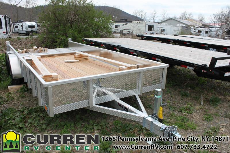 2020 SPORT HAVEN 7x16 7k Aluminum Utility Trailer with Diamond Plate Sides- AUT716TS