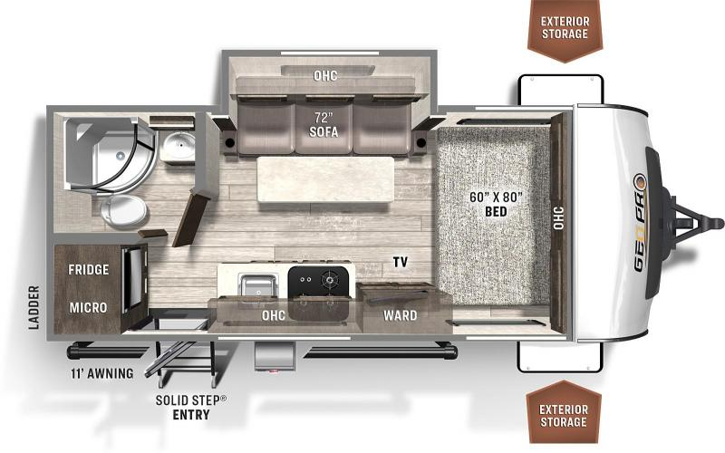 2021  ROCKWOOD GEO PRO 19FBS Travel Trailer  - DUE EARLY MARCH