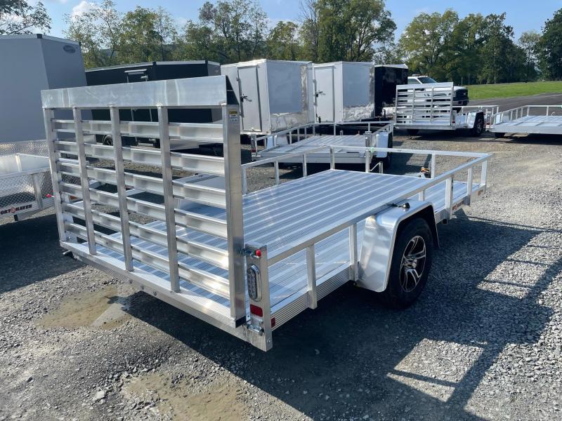 2022 SPORT HAVEN 7x12 3k DLX Aluminum Tube Top Utility Trailer - Aluminum Deck - Aluminum Wheels - AUT712D