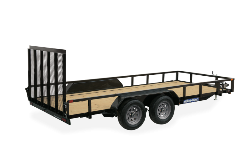 2021 SURE-TRAC 7x14 7k Tube Top Utility Trailer - ST8214TAT-B-070