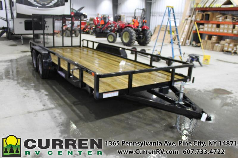 2021 SURE-TRAC 7x18 7k Tube Top Utility Trailer - ST8218TAT-B-070