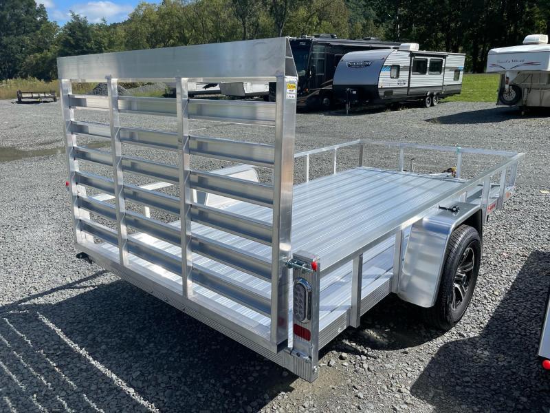 2022 SPORT HAVEN 6x12 3k Aluminum Tube Utility Trailer - Aluminum Deck - Aluminum Wheels - Torsion Axle - AUT612D