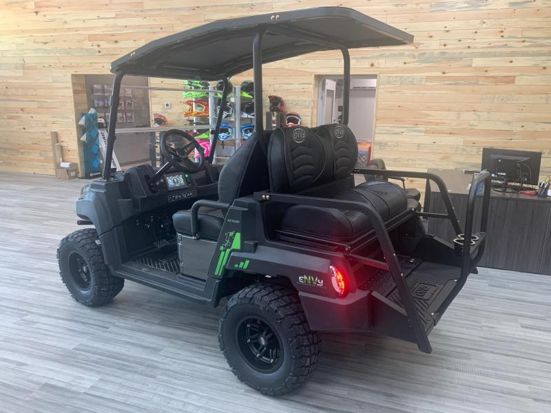 2021 Envy NV-4 Neighborhood Vehicle (Golf Cart) - Roof - Front Bumper - Seats 4 - Electric - Digital Dash - Folding Windshield - Turf Tires - Aluminum Wheels - Made in the USA