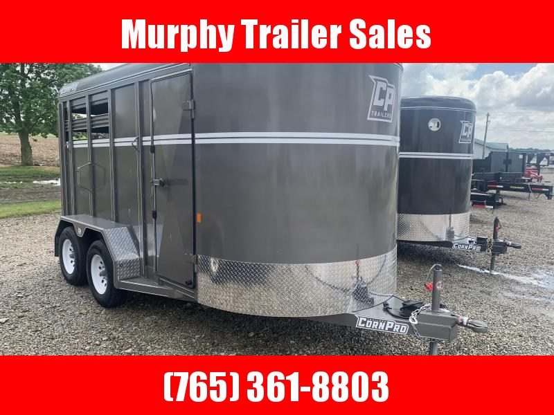 2021 CornPro 2 Horse Slant Stock Combo Horse Trailer