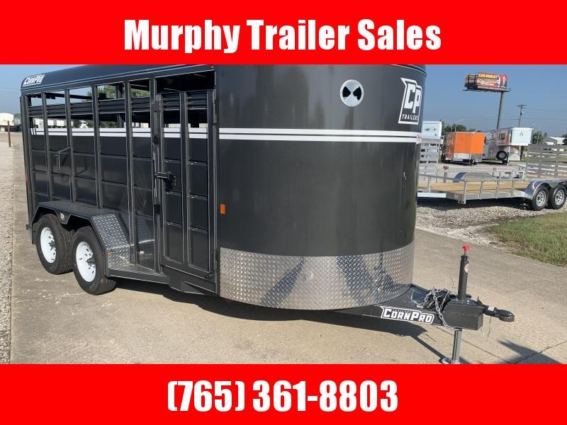 2021 CornPro SB16 7s Bumper Pull Livestock Trailer