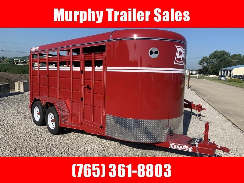 2021 CornPro SB16 6s Bumper Pull Livestock Trailer