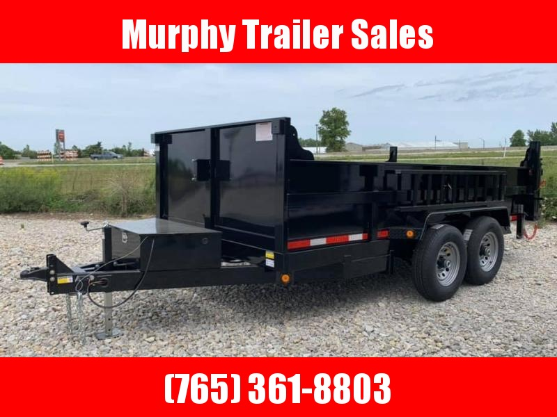"2022 Quality Steel and Aluminum 83""x14' Bumper Pull Dump Trailer"