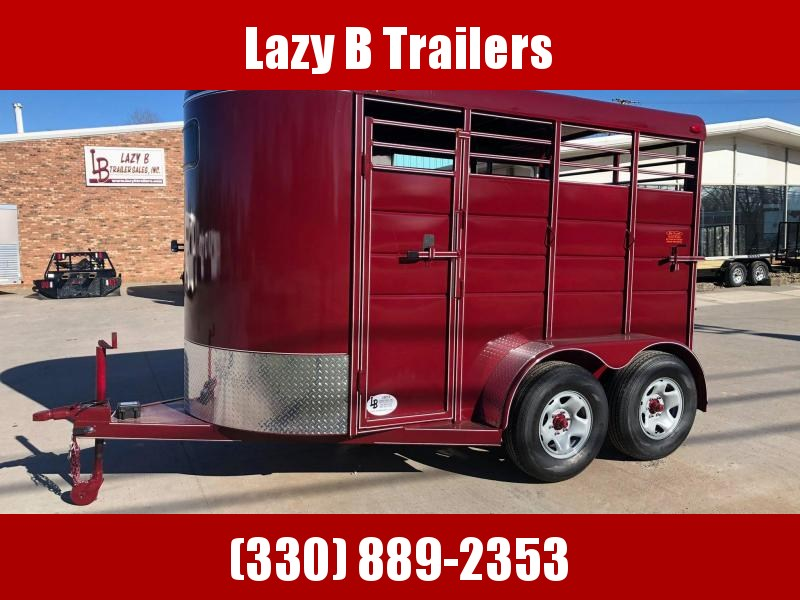 2021 Calico Trailers 2 Horse Stock Combo Horse Trailer