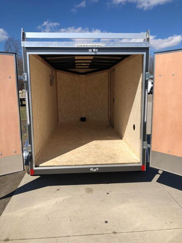 2021 Pace American 6 x 12 w/ Ladder Racks Enclosed Cargo Trailer