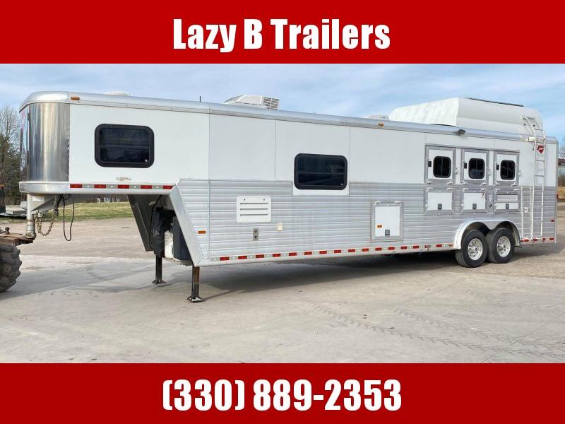 "2007 Hart Trailers 3 Horse w/ 14'3"" Outlaw LQ Horse Trailer"