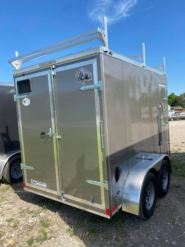 2021 Rhino Trailers 6x10 Contractor Enclosed Cargo Trailer