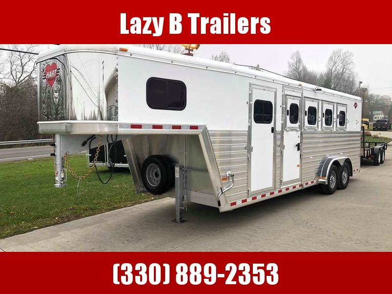 2020 Hart Tradition 4 Horse Gooseneck Slant Load Horse Trailer