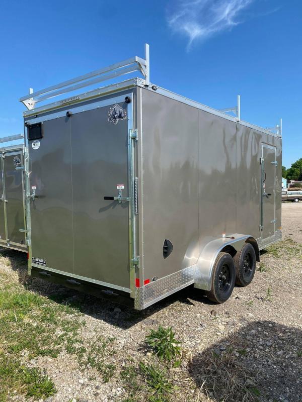 2021 Rhino Trailers 7x16 Contractor Enclosed Cargo Trailer