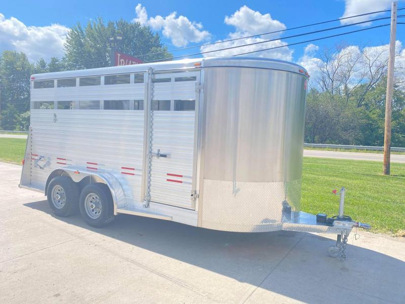 2021 W-W Trailer 16' Aluminum Bumper Pull Livestock Trailer