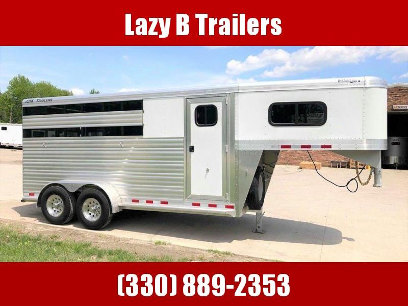 2019 CM Roundup 3 Horse Stock Combo Trailer