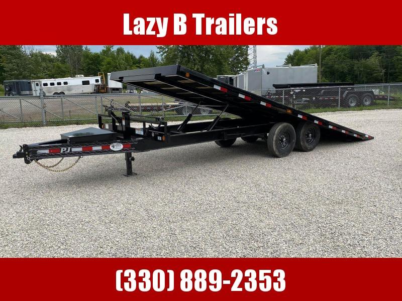 2021 PJ Trailers 22' DECKOVER T8 TILT Equipment Trailer