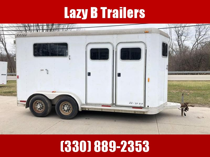 2002 Exiss Trailers 2 Horse Straight Load Horse Trailer
