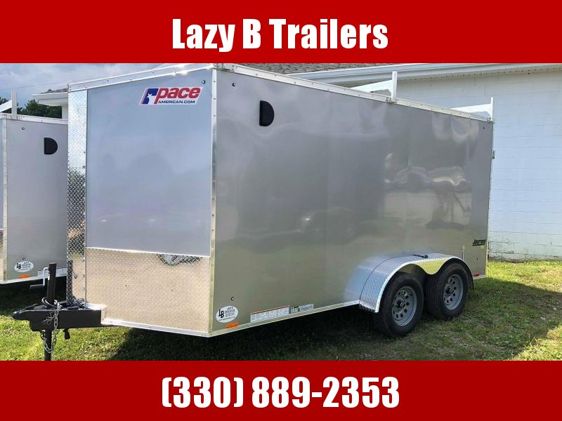 2021 Pace American 7 x 14 Contractor Enclosed Cargo Trailer