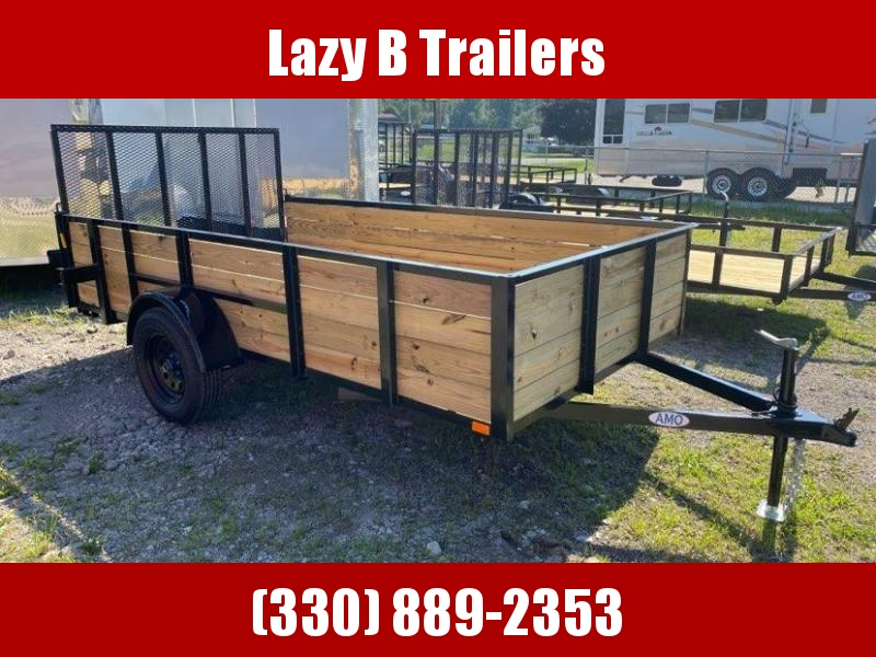 2021 AMO 12' HIGH SIDES Utility Trailer
