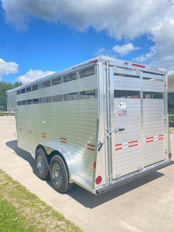 2021 W-W Trailer 16' Aluminum Gooseneck Livestock Trailer