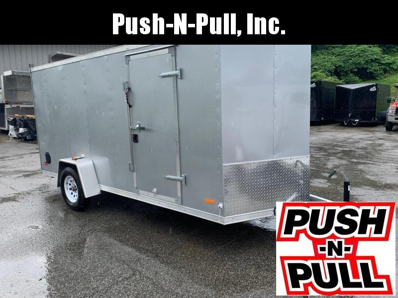 2019 RC ALUMINUM Trailer 6X14 V Nose Trailer Enclosed Cargo Trailer