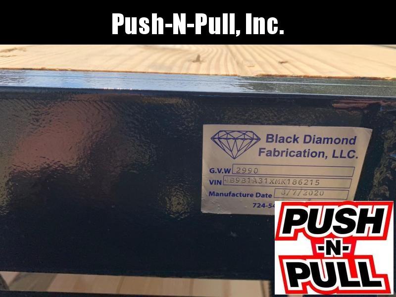 2020 BLACK DIAMOND 4'X8' STEEL FLAT BED TRAILER