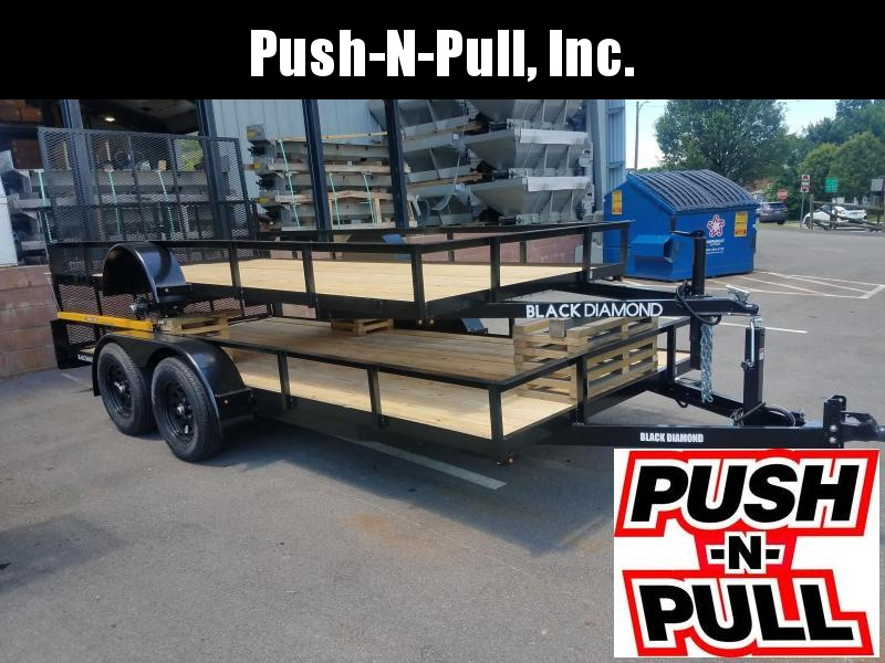2020 BLACK DIAMOND 6'X16' STEEL UTILITY TRAILER