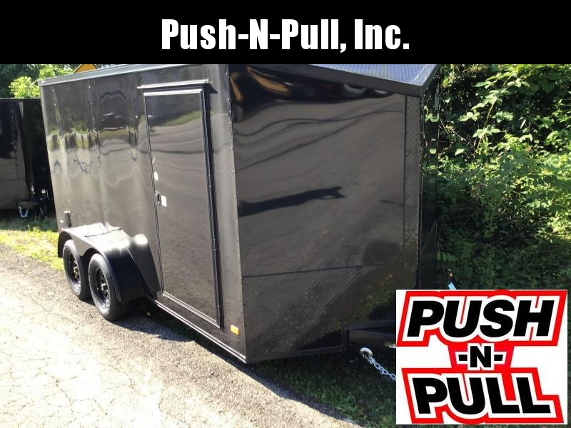 2020 Motorcycle Special Covered Wagon Trailer 7X14 V Nose Trailer Enclosed Cargo Trailer