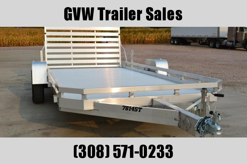 2021 Aluma 7814S-TG-TR Utility Trailer